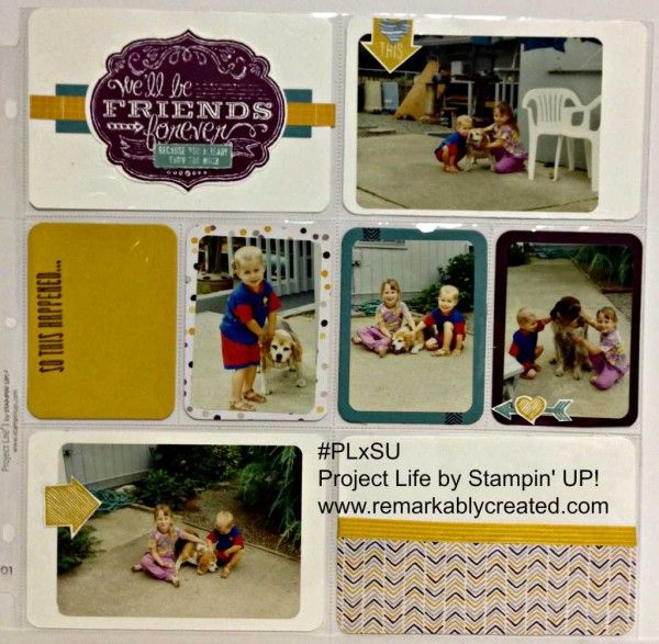 Help my photos are too small for the Project Life Pocket Pages - #PLxSU class project. #projectlife #stampinup www.remarkablycreated.com