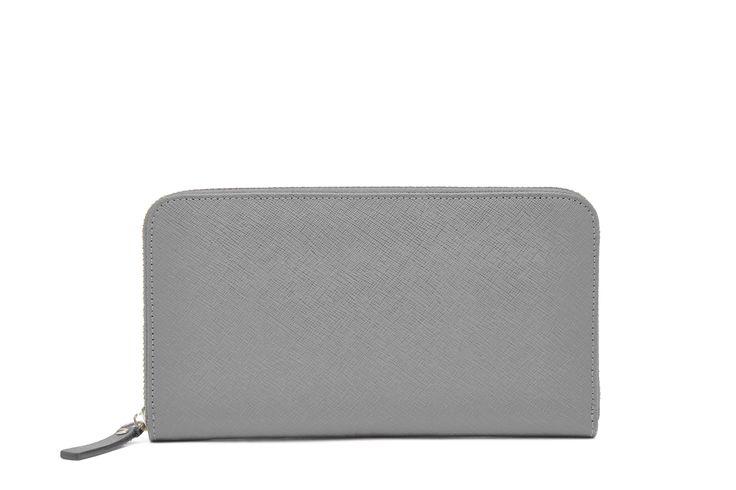 Grey Zipper Wallet