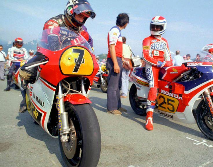 Barry Sheene & Freddie Spencer 1982
