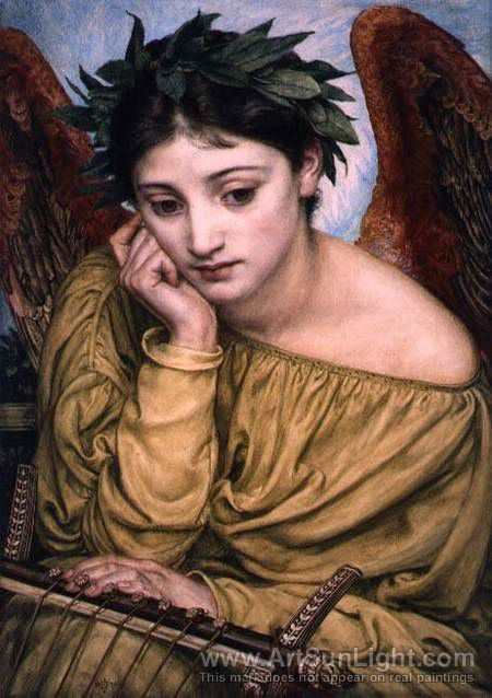 Erato - muse of love and erotic poetry - artist Edward Poynter (1836-1919)