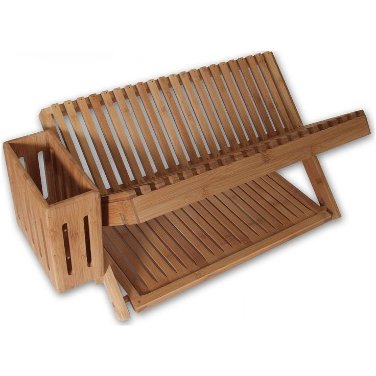 """24"""" Bamboo Dish-Drying Rack from Island Bamboo 