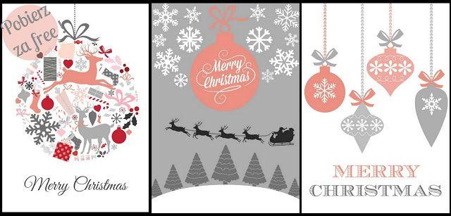 Love Chevron: 3 świąteczne plakaty - do druku