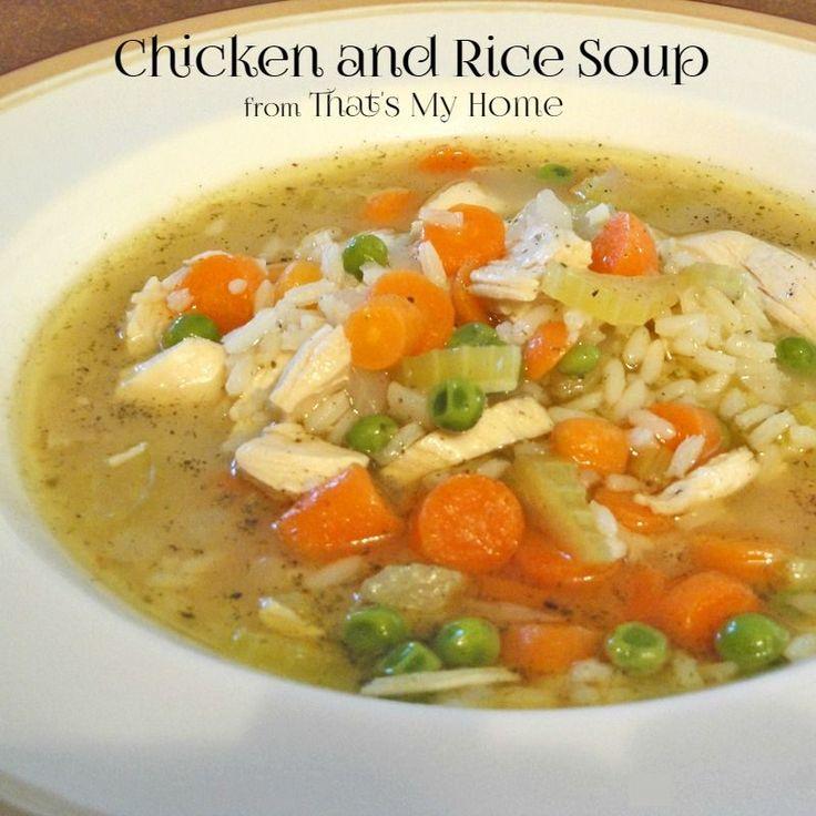 Pollo y Sopa de arroz