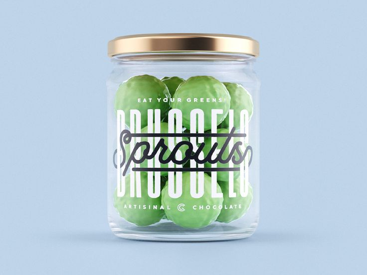 Sprouts Jar Packaging  by  - Dribbble