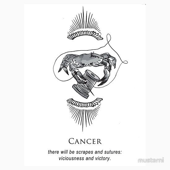 Musterni, shitty horoscopes stickers, cancer