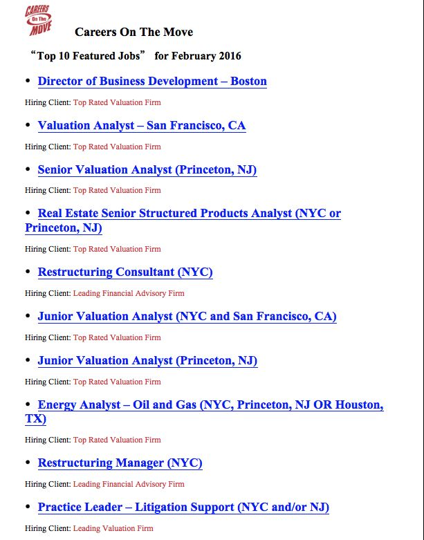 Best Industry Job Listings For Careers On The Move Images On