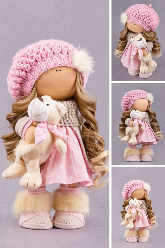 Poupée Babmole russe Bonita Tilda doll Interior doll Textile