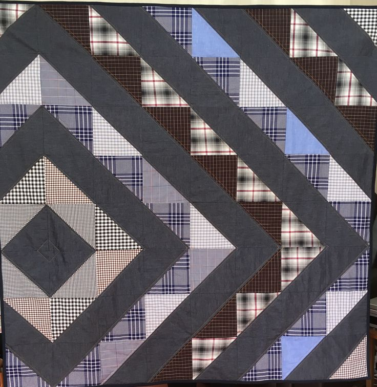 HST denim & shirt fabric quilt for Project Linus ( May 2016)