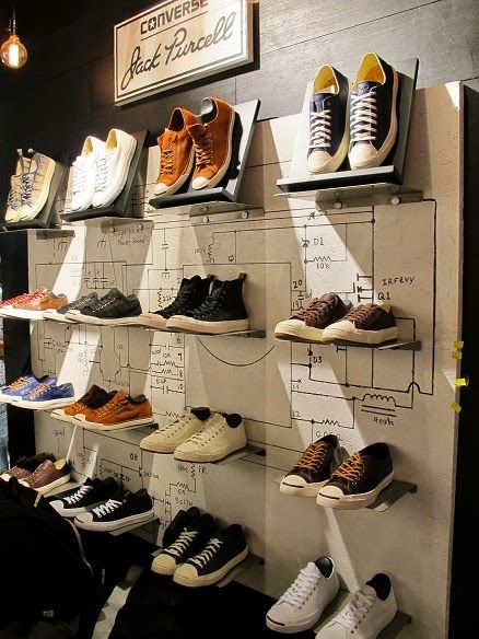 CONVERSE, display wall, pinned by Ton van der Veer