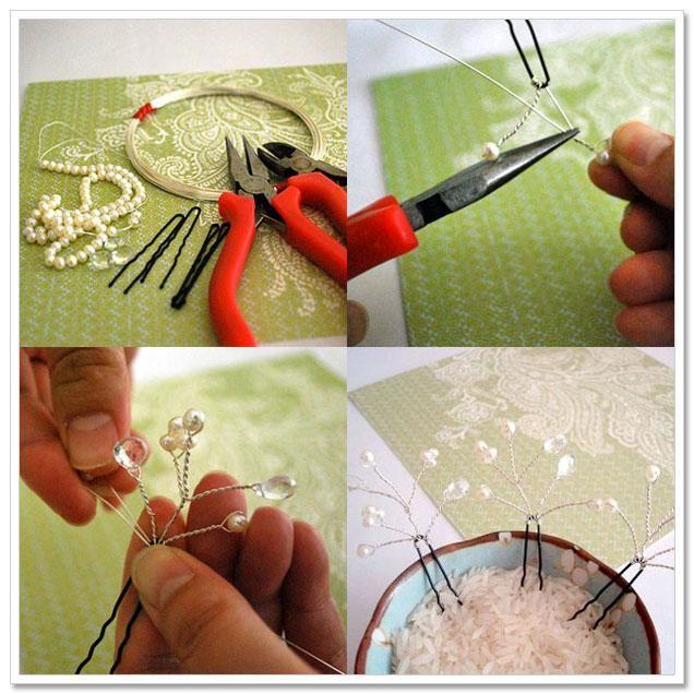 DIY Tutorial: DIY WEDDING / DIY Blossoming Bridal Hair Pins - Bead