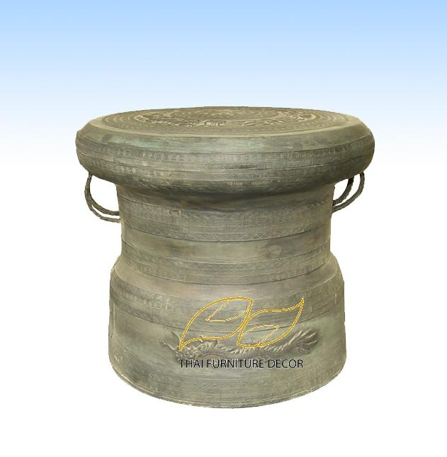 Rain Drum Chinese Dragon Shape Style Thai Furniture Decor Materials Specifications