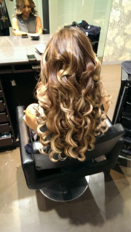 Full head of extensions