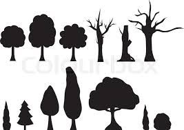 Image result for winter cartoon silhouettes