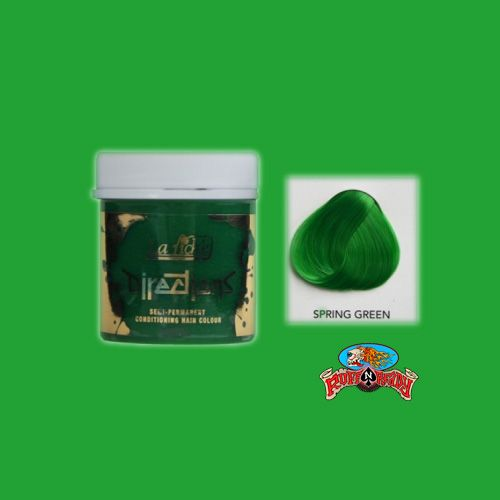 Are you close to nature? Be closer with this Spring Green Hair Colour by Directions http://www.ruffnready.com.au/store/semipermhairdye #HairDye #Directions #RuffnReadyaus #rockabilly #hair #products #semiperm