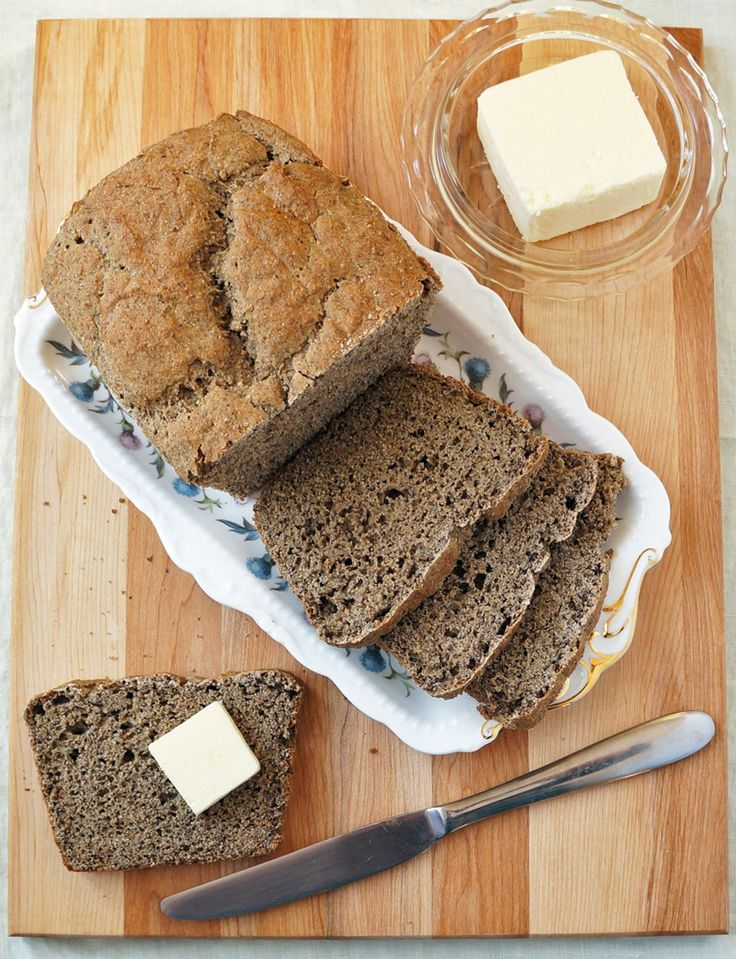 This is an easy to make #glutenfree bread with that satisfying honey oat flavor - perfect for slathering in peanut butter!