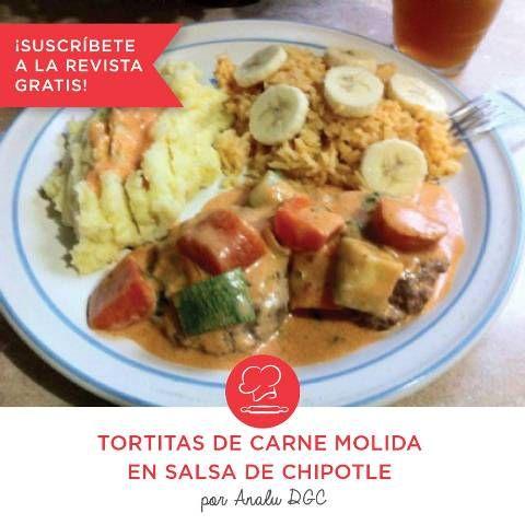 Tortitas de Carne Molida en Salsa de Chipotle por Analu Dgc | Intercambio De Recetas