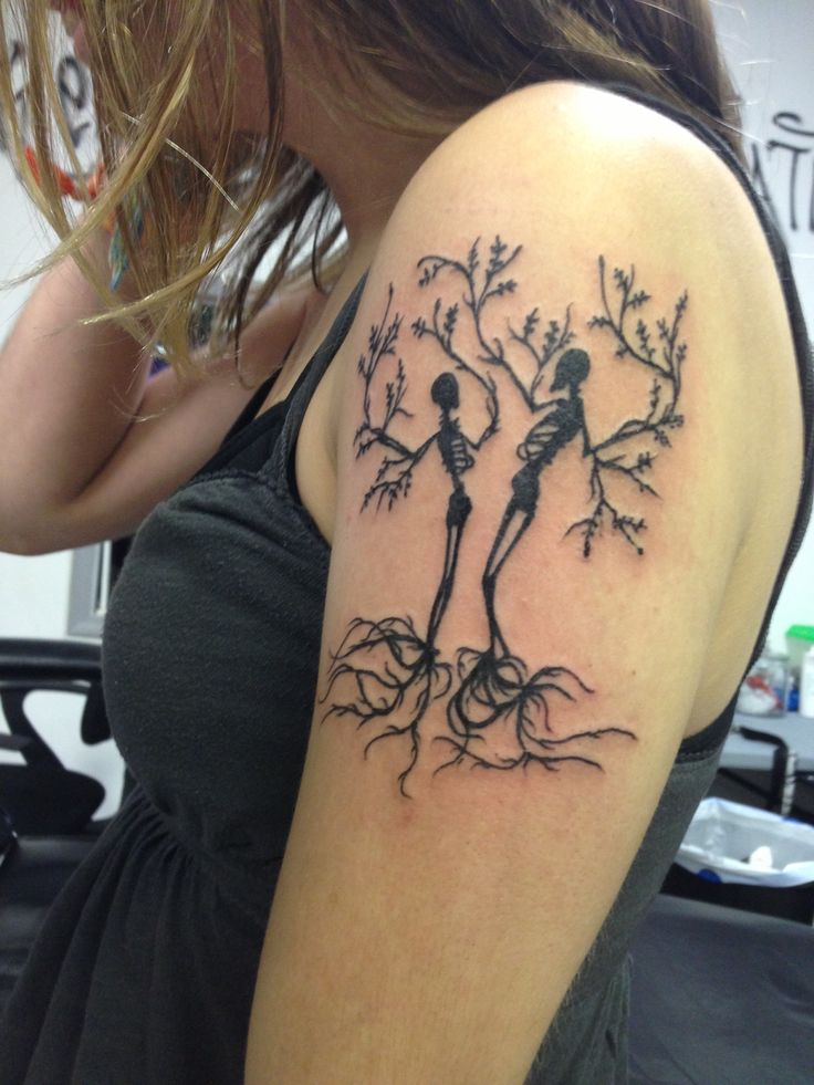 Skeleton family tree tattoo the image for Does tattoo goo really work