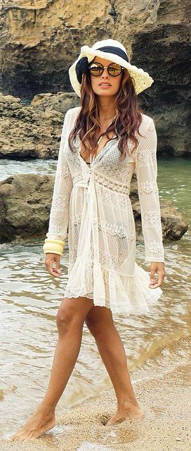 Full Lace Cardigan in Ivory