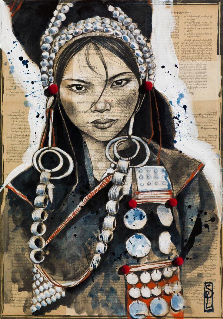 Stéphanie Ledoux - Carnets de voyage: Parures Akhas. (http://stephanie-ledoux.blogspot.fr/2015/08/parures-akhas.html)