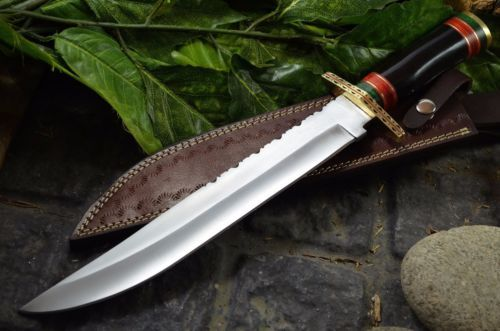BDS CUTLERY RARE CUSTOM HAND MADE D2 TOOL STEEL MASSIVE BOWIE KNIFE - UK-21
