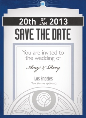 doctor who wedding invitations timey wimey save the date or could