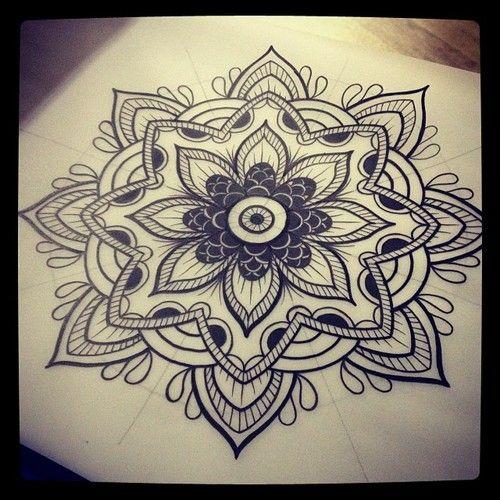 lotus mandala lower back tattoo - Pesquisa do Google