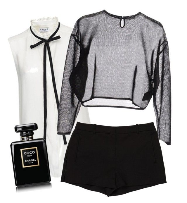 """""""Smooth Chic."""" by glowprince on Polyvore featuring Frame Denim, Yves Saint Laurent and L'Agence"""