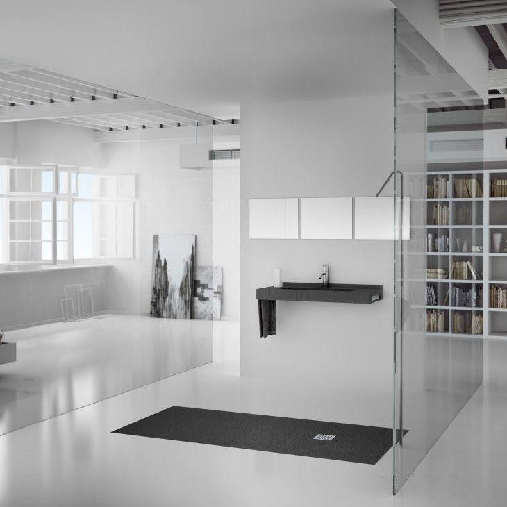 Platos de ducha de FIORA disponibles en #EcoceramShowroom #Ecoceram #Diseñodebaños #Bañosdiseño #platosdeducha #Fiora