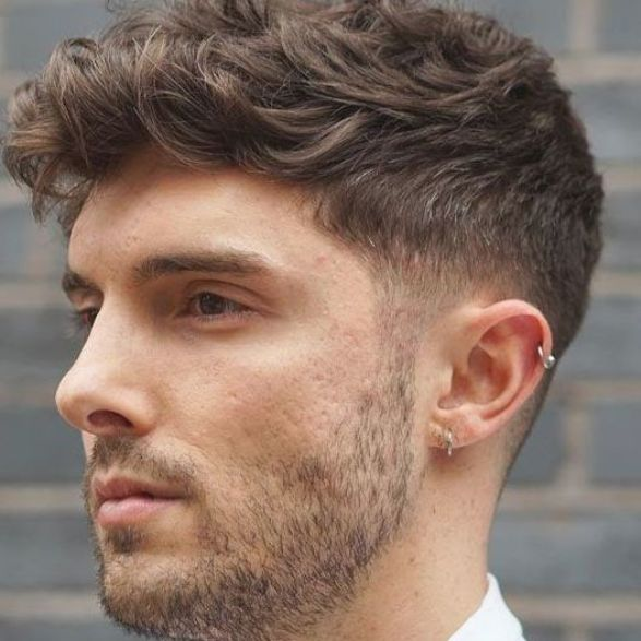 Thick Wavy Hair With Short Taper Fade Best Short Hairstyles For Men Cool Men S Short Haircut In 2020 Mens Hairstyles Thick Hair Thick Curly Hair Mens Haircuts Short