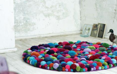ber ideen zu bommel teppich auf pinterest bommel. Black Bedroom Furniture Sets. Home Design Ideas