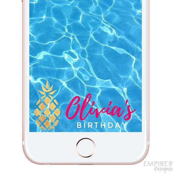 Birthday Snapchat Geofilter Birthday Snapchat Filter Custom