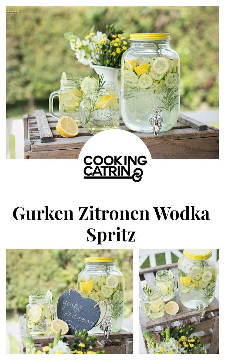 Gurke, Zitrone, Wodka, Spritz, Drink, cucumber, lemon, summer, party