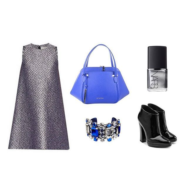 Metallic flashes and a touch of blue violet for a super sophisticated outfit! #cromiabag #cromialovers #handbag #fw15 #fashion #style #baglover #charme #trend #outfit #look #cool #bag #elegance #instastyle #instafashion #instacool #bagoftheday #fashionblogger #iconic #citystyle #glamour