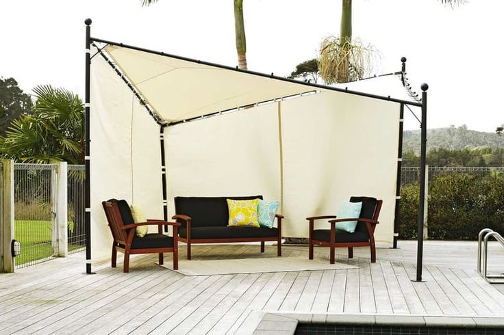 Add the finishing touch to your look for summer this year with the beautifully designed Butterfly Gazebo. It can be used as just a shade sail/cloth or as a semi enclosed gazebo for outdoor dining or relaxing. The large 4 meter shade surface has 2 side curtains for that extra protection from the elements. This Gazebo is ideal for the patio or larger outdoor area. Great for entertaining and keeping your family protected from the sun!