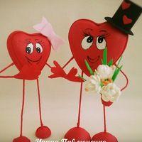 Мастер-классы по куклам из фоамирана | 20 товаров  Влюбленные сердечки #14февраля деньвлюбленных #сердечки #валентинки #фоамиран