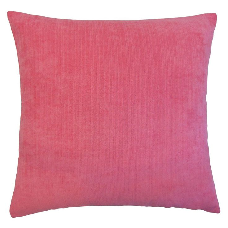 "Rafiya Outdoor 22-inch Down Feather Throw Pillow Pink (22"" x 22""), Size 22 x 22 (Synthetic Fiber, Solid Color)"