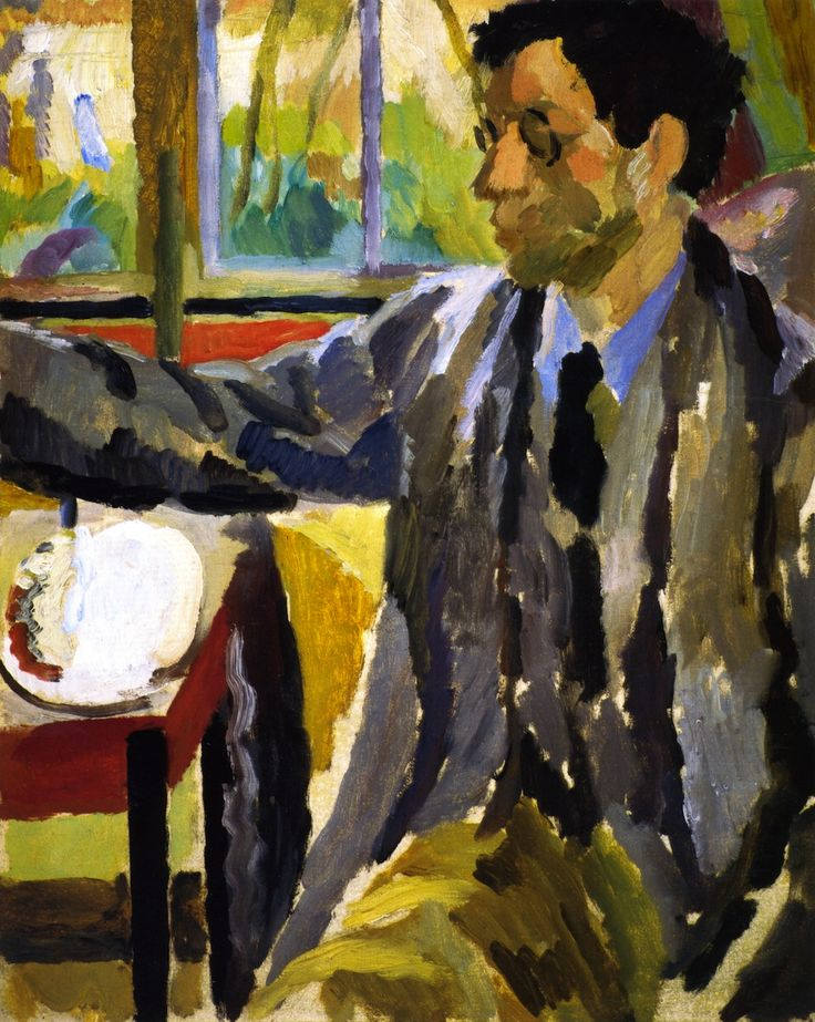Duncan Grant Painting by Vanessa Bell