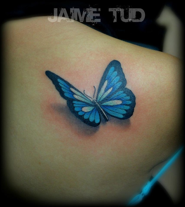 17 Best images about Realistic & 3D Butterfly Tattoos on Pinterest ...