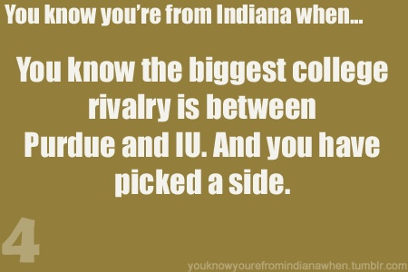 Know your from Indy when you pick a side