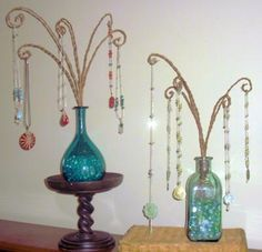 LOVE this display! Perfect for my longer necklaces that don't fit on my other displays. And I already have bottles.