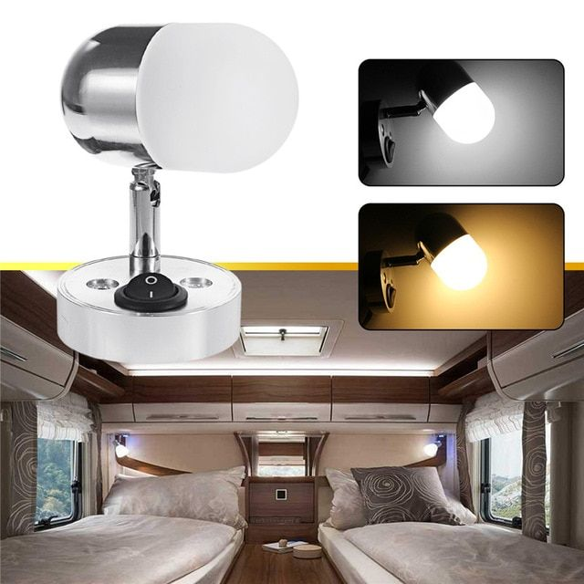 12v Led Wall Lamp Reading Spot Light Decoration For Bedroom For Camper Car Led Interior Lamp Review Led Wall Lamp Lamp Wall Lamp