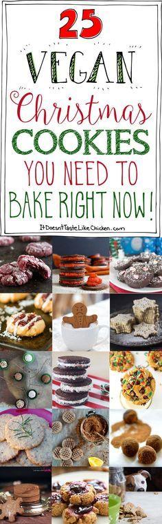Vegane Weihnachtsplätzchen Weihnachtsbäckerei 25 Vegan Christmas Cookies You Need To Bake Right Now! #itdoesnttastelikechicken