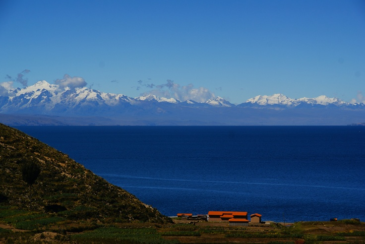 Titicaca Lake. Located in Bolivia and Peru. It is one of the highest lakes in the world! It offers beautiful panoramas.