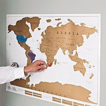 Scratch Off World Map Poster