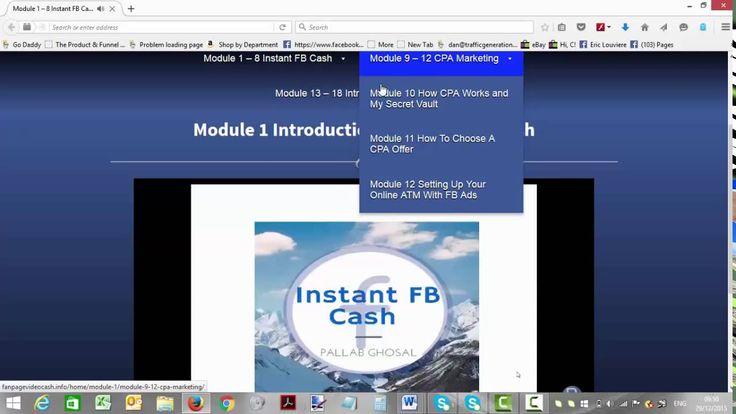 Instant FB Cash Review - Instant FB Cash Members Area Walkthrough