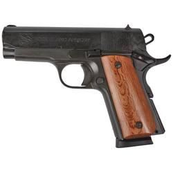 "Rock Island Armory 1911 Compact Semi Automatic Pistol .45 ACP 3.5"" Barrel Wood Grips Parkerized Finish"