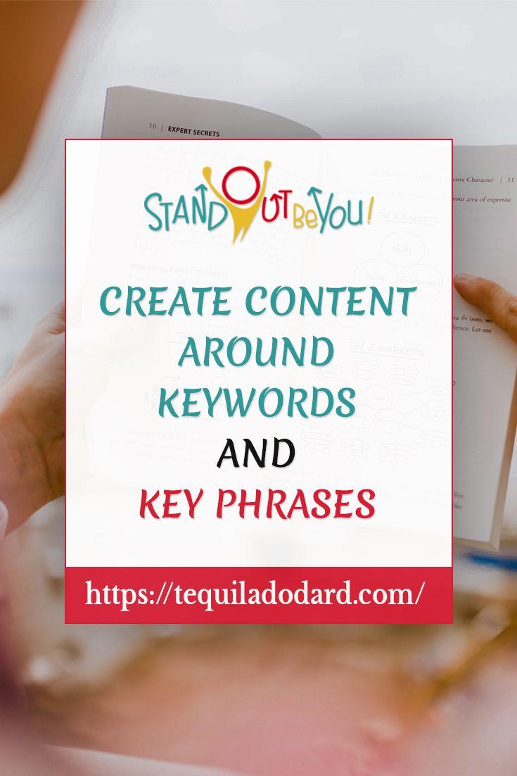 Erstellen Sie Inhalte um Schlüsselwörter und Schlüsselphrasen