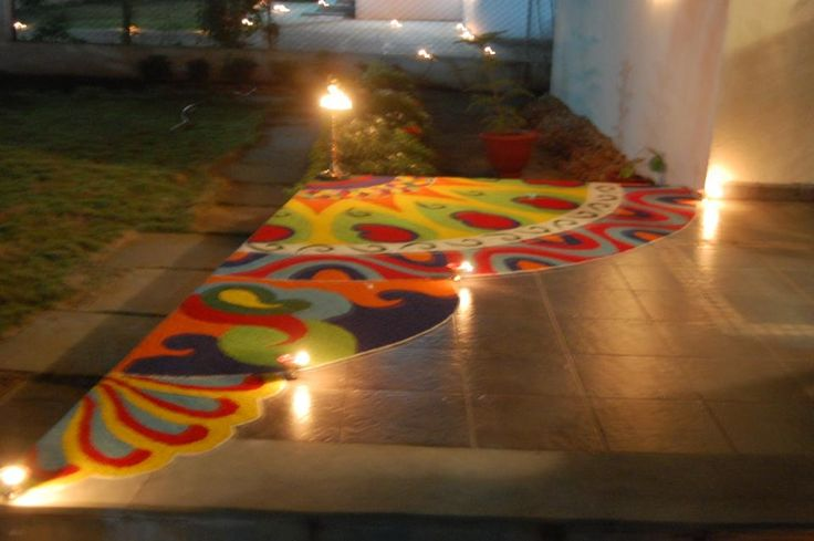 Colourful Rangoli...made from rice !