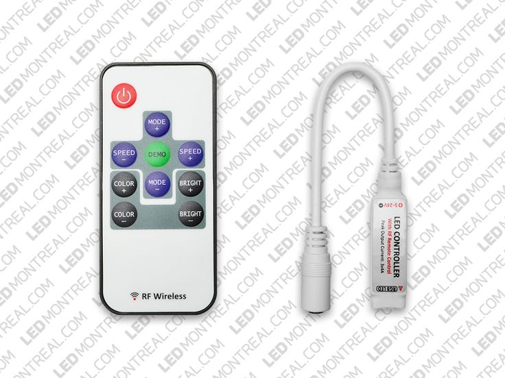10 key RF Remote and Controller for RGB LED Strips Led