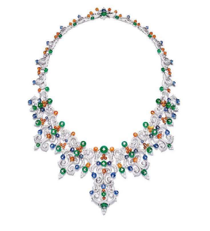 """Giampiero Bodino.  Via Arbiter (@arbitermagazine) on Instagram: """"Collana Corona, zaffiri, smeraldi, opali di fuoco, diamanti, oro bianco Da Mediterranea, la nuova…"""""""